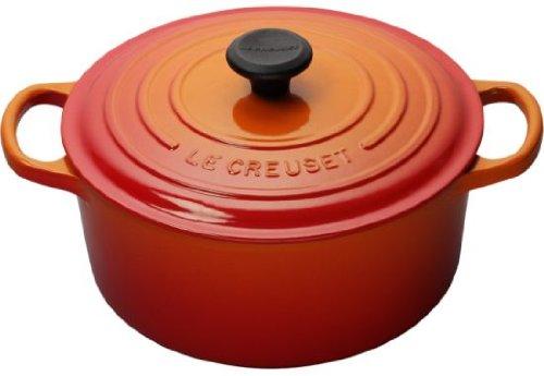 Le Creuset Signature Enameled Cast-Iron 2-Quart Round French (Dutch) Oven, Flame