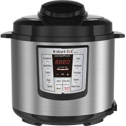 Instant Pot LUX60 V3 6-in-1 Multi-Use Programmable Pressure Cooker, 6qt | Stainless Steel (Silver)