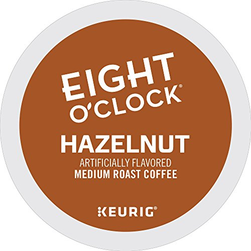 Eight O'Clock Coffee Hazelnut, Keurig Single-Serve K-Cup Pods, Medium Roast Coffee, 72 Count (6 Boxes of 12 Pods)