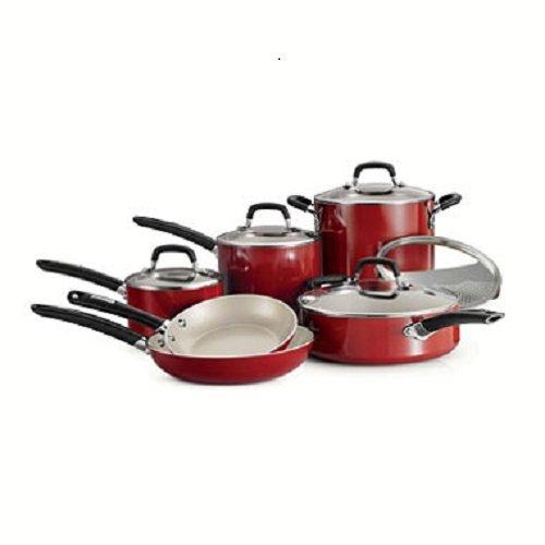 Tramontina 80157/506DS Ceramic Deluxe Cookware Set, 11 Piece, Metallic Gray