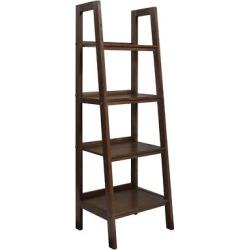 Sawhorse Ladder Shelf Bookcase Medium Saddle Brown – Simpli Home
