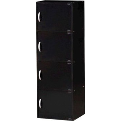 Hodedah Import Storage Cabinet – Black