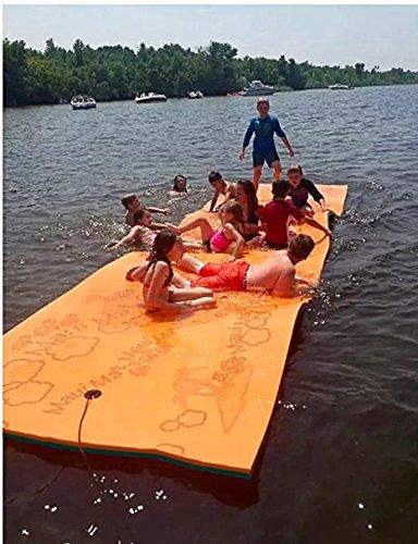 Maui Mat (Aqua Lily Products: Floating Foam Fun Pad Designed Water Recreation Relaxing (20ft)