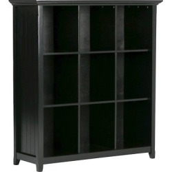 Acadian 9 Cube Bookcase & Storage Unit Black – Simpli Home