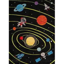 Space Rug, Black, Rugs