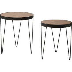 Pasadena Nesting Accent Table Set – Matte Black – Office Star Products