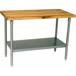 John Boos Maple Top Work Table w/ galvanized base and shelf – 72 inch x 36 inchx 36 inch
