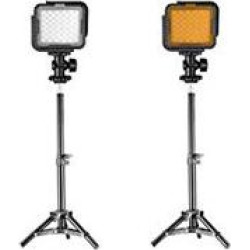 Neewer CN LUX360 Dimmable Camera LED Video Light and Light Stand Lighting Kit 36 Pieces LED Panel with Diffuse