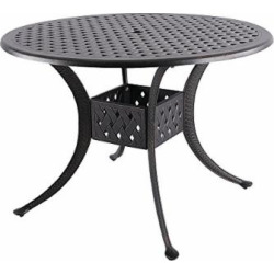Nuu Garden 42″ Indoor Outdoor Patio Solid Cast Aluminum Round Dining Conversation Table CT003, Antique Bronze