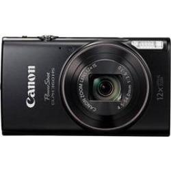 Canon PowerShot ELPH 360 HS Digital Camera with 12x Optical Zoom + Wi-Fi – Black