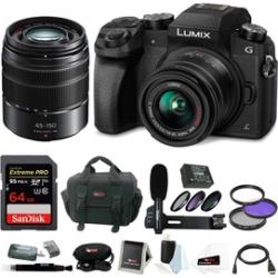 Panasonic LUMIX G7 Mirrorless Digital Camera w/ 14-42mm & 45-150mm Lens