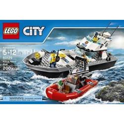 City Police LEGO 200 PCS Police Patrol Boat Brick Box Building Toys