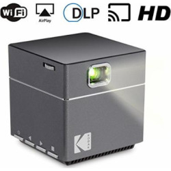 Kodak Wireless WiFi Portable Projector – DLP Pico LED 1080p HD Mini Projector – Supports Android Miracast, iOS Apple Airplay Phones and Devices – Rechargeable with Speakers – HDMI and Micro SD Card