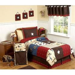 Sweet Jojo Designs 4-Piece Wild West Cowboy Western Children's Bedding Twin Set