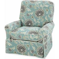 Custom Slipcovered Swivel Glider Chair Trimble