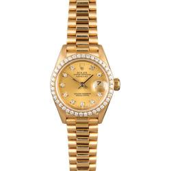 Rolex Lady President 69138 Diamond Bezel & Dial