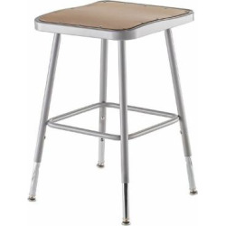 National Public Seating 19-27″ Adj. Stool With Hardboard Seat