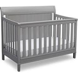Delta Children New Haven 4-in-1 Convertible Crib, Gray