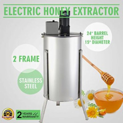 Happybuy Stainless Steel Honey Extractor Electric Honeycomb Spinner, 2 Frame