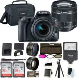 Canon EOS Rebel SL2 SLR Camera w/ 18-55mm Lens & 64GB Memory Bundle
