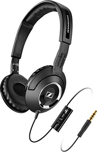 Sennheiser HD 219 S Headphones with Integrated Microphone for Smartphones, Black (Certified Refurbished)