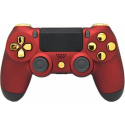 """Matte Red & Gold """"Soft Touch"""" PS4 Modded Rapid Fire Controller, Works With All Games, COD, Rapid Fire, Dropshot, Akimbo & More"""