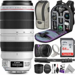 Canon EF 100-400mm f/4.5-5.6L IS II USM Lens w/ Essential Bundle – Includes: Altura Photo UV-CPL-ND4 Kit, Control and Camera Cleaning Set