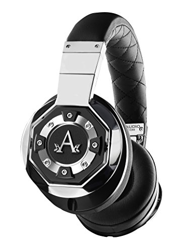 A-Audio A01 High Definition Headphones, Black/Liquid Chrome