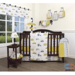 GEENNY 13 Piece Boutique Baby Nursery Crib Bedding Set, Transportation Cars, Multi-Colors, Crib