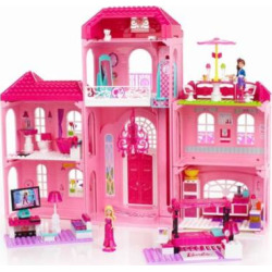 Mega Bloks Barbie Build 'n Style Luxury Mansion Play Set