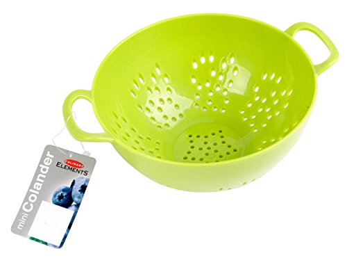 Culinary Elements 6-inch Mini Colander with Double Handles and Deep Bowl, Colors Vary, 48-pack
