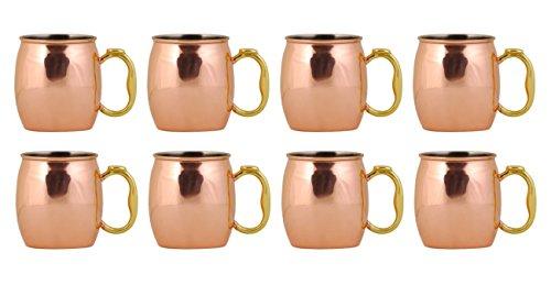 Oggi Moscow Mule Copper Mug, 20-Ounce, Set of 8