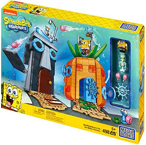 Mega Bloks SpongeBob SquarePants Bad Neighbors Playset
