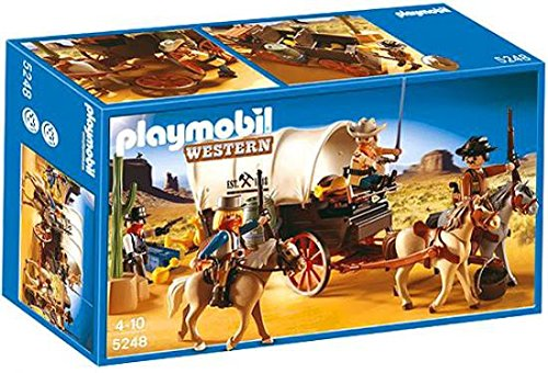 PLAYMOBIL® Covered Wagon with Raiders