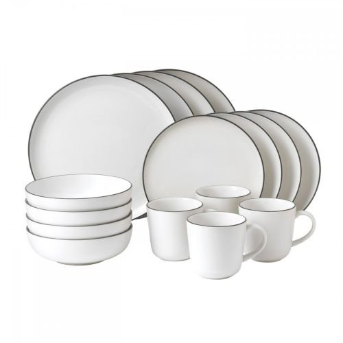 Gordon Ramsay 16-Piece Bread Street Dinnerware Set, White