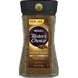 Nescafe Taster's Choice Instant Coffee, French Roast, 7 Ounce (Pack of 4)