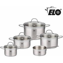 elo 9 piece collection 1810 stainless steel kitchen induction cookware pots - Allshopathome-Best Price Comparison Website,Compare Prices & Save
