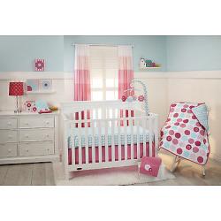 Little Bedding Tickled Pink 3 Piece Crib Bedding Set 4472276