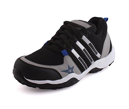 TRIBE Men's Leather Looks Unisex Men Running Sport Shoes SXX02 (43)