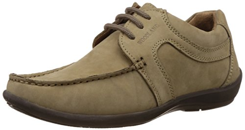 Woodland Men's Khaki Leather Formal Shoes – 10 UK/India (44 EU)