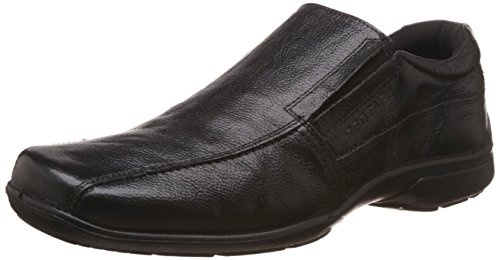 Red Tape Men's Slip On Black Leather Casual Shoes – 9 UK/India (43 EU)