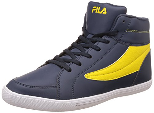 Fila Men's Streeter Navy and Yellow Sneakers – 6 UK/India (40 EU)
