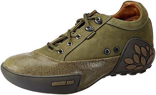 Woodland Men's Green Leather Espadrille Flats – 10 UK/India (44 EU)
