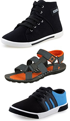 Tempo Men's Combo Pack of 2 Casual Shoes & Sandals-9