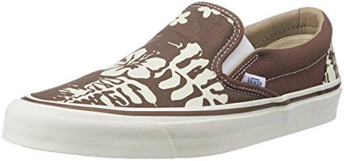 Vans Unisex's Slip-On 98 Reissue (50th) Stv, Aloha and Brown Loafers and Moccasins – 7 UK/India (40.5 EU)