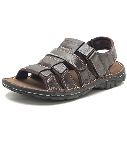 Red Tape Men's Brown Leather Sandals – 11 UK/India (45 EU)