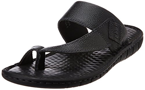 Hush Puppies Men's Sedan Tr-1 Black Leather Hawaii Thong Sandals – 9 UK/India (43 EU)(8746924)