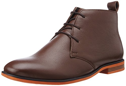 Bata Men's Bill Brown Leather Boots – 8 UK/India (42 EU) (8044193)