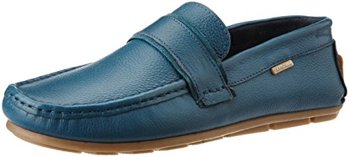 U.S. Polo Assn. Men's Blue Leather Loafers and Moccasins – 9 UK/India (43 EU)