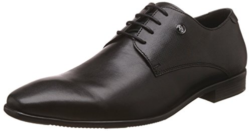 Hush Puppies Men's Cesar Derby Black Leather Formal Shoes – 7 UK/India (41 EU)(8246820)